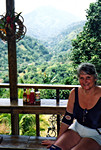 Mara at her lunch spot in the Blue Mountains