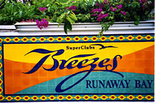 Breezes tile sign