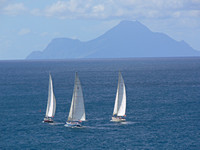 Sailing for St Barts